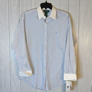 Nwt Lauren Ralph Lauren striped dress shirt sz 6